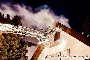 Haus nach Brand in Feldkirch unbewohnbar - Hartheim - Badische Zeitung