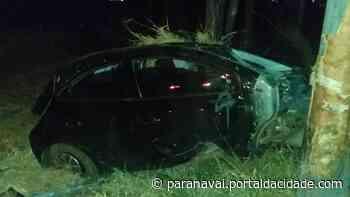Duas pessoas ficam feridas em capotamento na PR-182, em Loanda - ® Portal da Cidade   Paranavaí