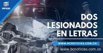 Dos lesionados deja choque de dos vehículos en la vía Manizales - Fresno - BC NOTICIAS - BC Noticias