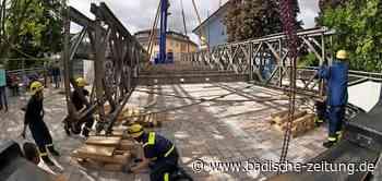 Die Behelfsbrücke in Bad Krozingen ist Geschichte - Bad Krozingen - Badische Zeitung