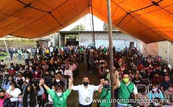 Amecameca, Edomex; En Barrio de Caltenco, recibe apoyo total Miguel Ángel Salomón. - UnomásUno
