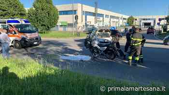 Scontro auto-moto a Gessate: ferito un 23enne - Prima la Martesana