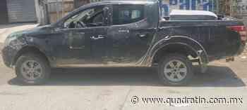 Aseguran vehículo y objetos ponchallantas en Buenavista - Quadratín - Quadratín Michoacán