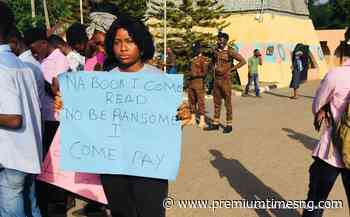 PHOTOS: Protests in Abeokuta over FUNAAB student kidnap - Premium Times