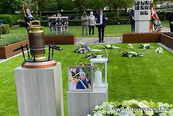 Fanfare Wampegalm neemt afscheid van vlaggendrager Frans Van Beers