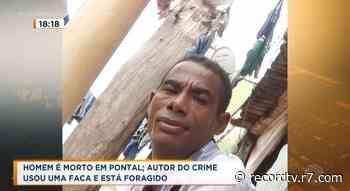 Homem foi morto a facadas em Pontal - Record TV