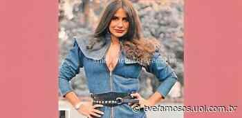 Fafá de Belem lembra foto com look todo jeans e brinca: 'Britney Spears' - UOL