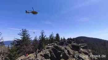 Einsatz für die Bergwacht Lam - Verletzte Wanderin am Kaitersberg - idowa