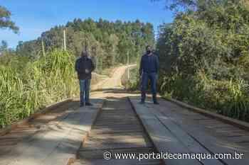 Concluída obra de construção de nova ponte em estrada no Taquaral, em São Lourenço do Sul - Portal de Camaquã