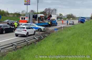 A8 bei Rutesheim - Autobahn in Richtung Stuttgart nach Unfall kurzzeitig voll gesperrt - Stuttgarter Nachrichten