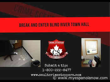 Video released of suspect in Blind River Town Hall theft - My Eespanola Now