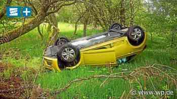 Wilnsdorf: Auto überschlägt sich und landet auf dem Dach - Westfalenpost