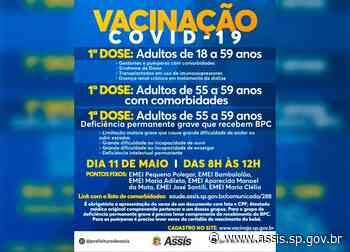 Saúde abre grupo prioritário de vacinação COVID-19 para esta terça-feira, 11 - Prefeitura de Assis