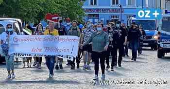 Ribnitz-Damgarten: So liefen die Corona-Kundgebungen - Ostsee Zeitung