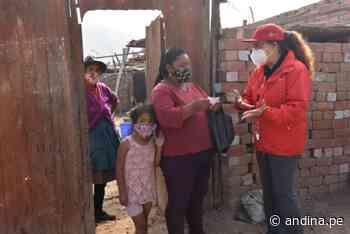 Ministra Vargas supervisó el empadronamiento de hogares en pobreza en Chosica - Agencia Andina