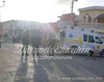 Un lesionado tras choque en el Centro de Ticul - El Diario de Yucatán