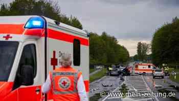 Schwerer Verkehrsunfall bei Montabaur: Drei Autos beteiligt – K 168 mehrere Stunden gesperrt [Update] - Rhein-Zeitung