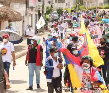 En Sincelejo, siguen las marchas por el paro nacional - El Universal - Colombia