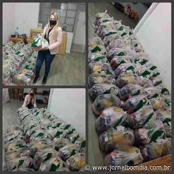 Notícias | Notícias: getulio-vargas-lar-da-menina-recebe-doacao-de-100-cestas-basicas - Jornal Bom Dia