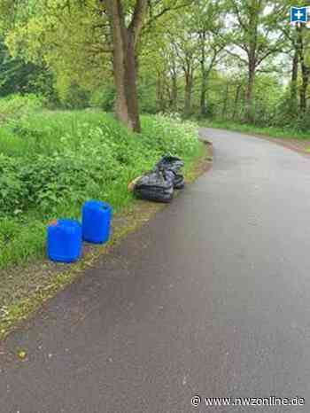 Kanister mit einer undefinierbaren Flüssigkeit: Illegale Müllentsorgung in Wiefelstede - Nordwest-Zeitung