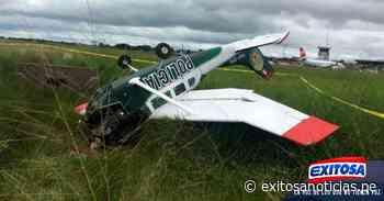 Ucayali: avioneta de la PNP cae en aeropuerto de Pucallpa y tripulantes se salvan - exitosanoticias