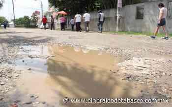 Dañan calles por trabajos del Distribuidor Vial de Guayabal - El Heraldo de Tabasco