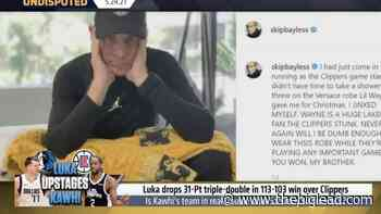 Skip Bayless Blames Lil Wayne's Versace Robe For Clippers' Game 1 Loss - The Big Lead