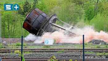 So lief die Sprengung des alten Wasserturms in Bestwig - WP News