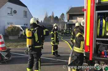 FW Kranenburg: Brand in Kfz-Werkstatt an der Klever Straße - Presseportal.de