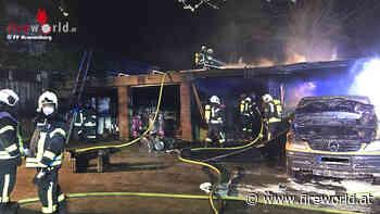 D: Fahrzeug und Carport brannten bei Wohnhaus in Kranenburg - Fireworld.at