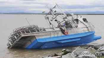 Fishing boat runs aground in Steveston, operator under investigation | Watch News Videos Online - Globalnews.ca