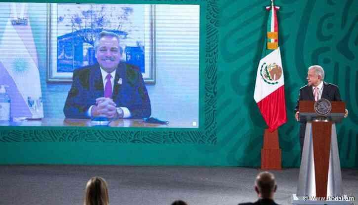 AMLO y Fernández anunciaron la distribución de los primeros lotes de la vacuna producida entre México y Argentina - nodal.am