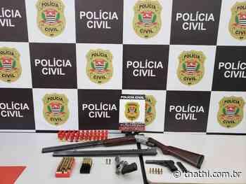 Homem é detido com três armas de fogo em Cravinhos - Thathi