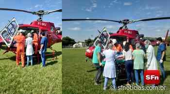 Vídeo: Idosa que teve o corpo queimado em Cambuci é transferida de helicóptero - SF Notícias