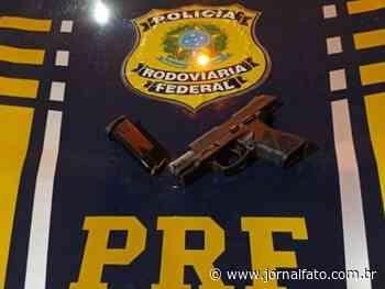 PRF apreende pistola em Ibatiba - Jornal FATO
