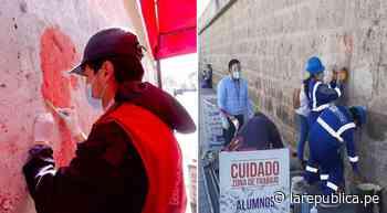 Arequipa: culminan limpieza de pintas en Monasterio de Santa Catalina - LaRepública.pe
