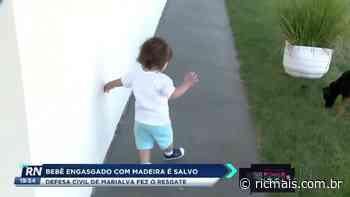 Defesa Civil de Marialva fez o resgate de bebê engasgado com madeira - RIC Mais Paraná