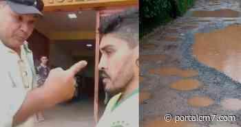 Secretário de Infraestrutura de Itapiranga dá 'piti' e ameaça morador após ser cobrado pelo asfalto na cidade - PortalCM7
