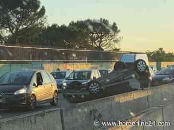 Bari, auto si ribalta in tangenziale: lunghe code all'altezza di Carbonara - Borderline24.com