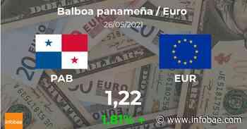 Euro hoy en Panamá: cotización del balboa al euro del 26 de mayo. EUR PAB - infobae