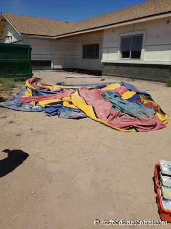 2 girls hospitalized with serious injuries after dust devil sends bounce house over 20 feet into the air
