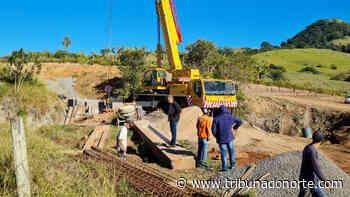Prefeitura de Faxinal substitui ponte sobre rio Marumbi - Tribuna do Norte