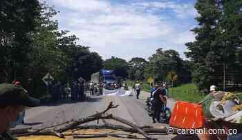 Se presenta cierre en la vía Bucaramanga – San Alberto - Caracol Radio