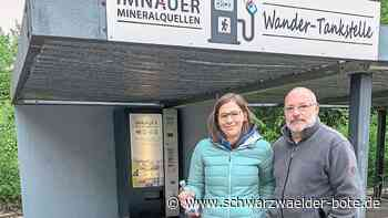 Wandertankstelle in Bad Imnau - Tourismus AG betreibt neuen Getränkeautomaten - Schwarzwälder Bote