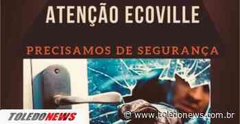 Terra Roxa: Moradores do Bairro Ecoville realizam abaixo-assinado pedindo por mais segurança - Toledo News