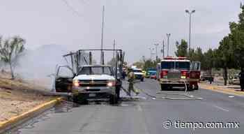 Se incendia camión del Ayuntamiento en la Sacramento y Monte Albán - El Tiempo de México
