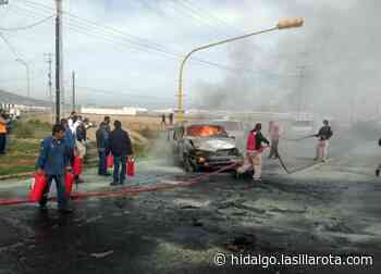 Tras chocar vs pipa de gas, se incendia vehículo en la Sahagún-Emiliano Zapata - La Silla Rota