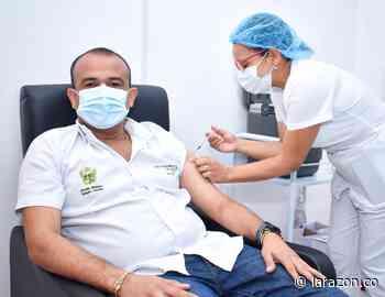 Alcalde de Sahagún, Jorge Pastrana, se vacunó contra coronavirus - LA RAZÓN.CO