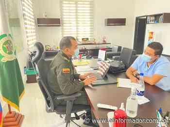 Alcalde de Ariguaní se reunió con el coronel de la Policía del Magdalena para mejorar la seguridad del municipio - El Informador - Santa Marta