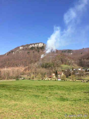Großer Waldbrand bei Bad Urach unterhalb Kunstmühlefels: Feuerwehren Bad Urach & Münsingen im Einsatz   RTF.1 - RTF.1 Regionalfernsehen - Nachrichten